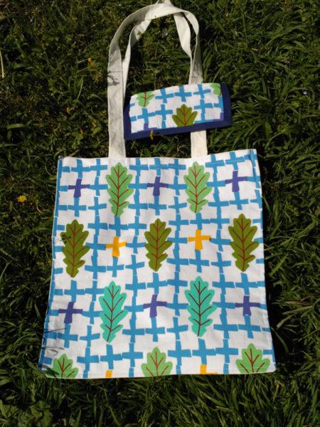 Azules con hojas de roble